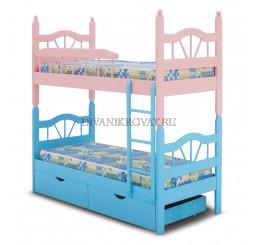 Двухъярусная разборная кровать Лучик-2 эмаль